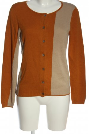 Turnover Knitted Cardigan light orange-natural white casual look