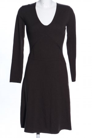 Turnover Knitted Dress black business style