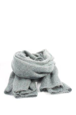 Turnover Gebreide sjaal lichtgrijs-turkoois gestippeld casual uitstraling
