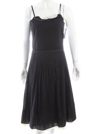 Turnover Trägerkleid schwarz-wollweiß