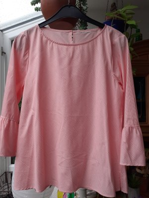 Turnover Tunic Blouse natural white-bright red