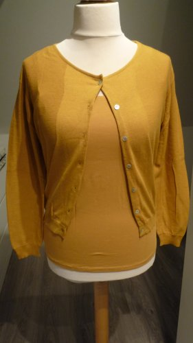 Turnover Ensemble en tricot orange doré coton
