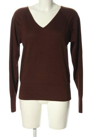 Turnover V-Ausschnitt-Pullover rot Casual-Look