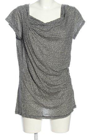 Turnover Koszulka z dekoltem woda czarny-biały Na całej powierzchni