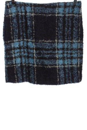 Turnover Jupe en laine motif à carreaux style décontracté