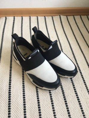 Basket slip-on blanc-noir