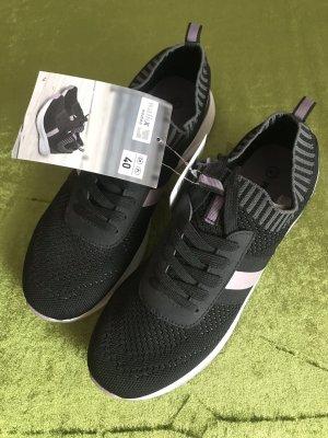 Walkx Women Basket slip-on noir-blanc