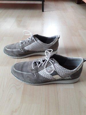 Sznurowane buty srebrny-szary