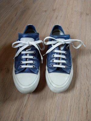 Candice Cooper Basket à lacet blanc-bleu fluo