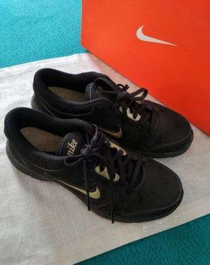 Turnschuhe Sneaker schwarz-gold