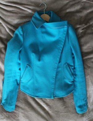Costume National Giacca corta turchese-blu neon Lana