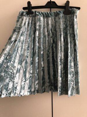 Turquoise plisse skirt