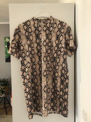 Turtleneck Animalprint Schlangenmuster Kleid