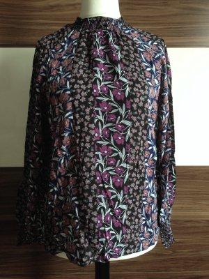 Turtleneck-Bluse mit Blumen von Yessica