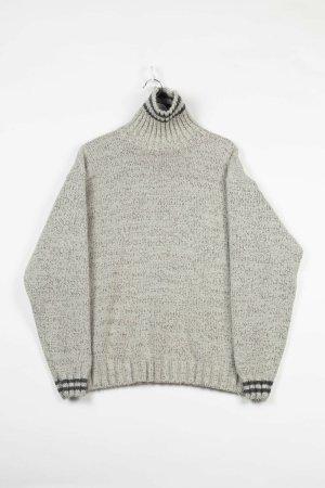 Sonstige Sweter z golfem szary Wełna