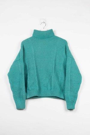 Sonstige Sweter z golfem zielony Wełna