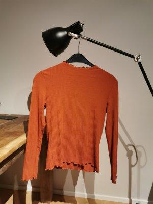 Only Turtleneck Shirt dark orange-russet