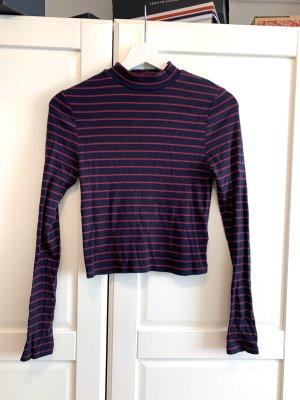 H&M Divided Jersey de cuello alto negro-rojo oscuro