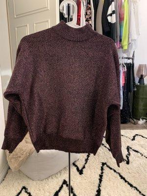 Topshop Jersey de cuello alto lila grisáceo-violeta amarronado