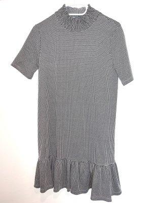 Turtleneck T-Shirt Kleid mit Volant