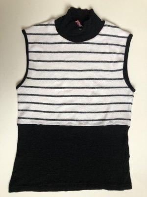 Koton Top z golfem czarny-biały