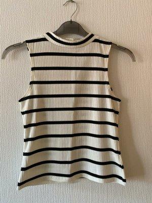 L.O.G.G. H&M Camisa de cuello de tortuga negro-blanco Poliéster