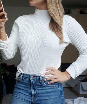 H&M Turtleneck Sweater white