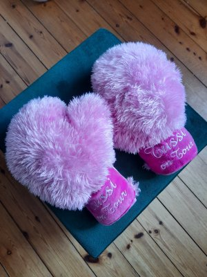 Fur Gloves light pink-pink