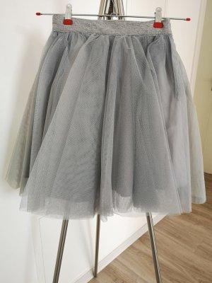 Jupe en tulle gris clair-gris