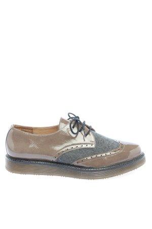 Tuva&Linn Scarpa Derby marrone-grigio chiaro stile casual