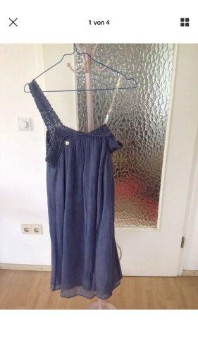 Tuwe von Italy Summer Kleid Blau Seide 36