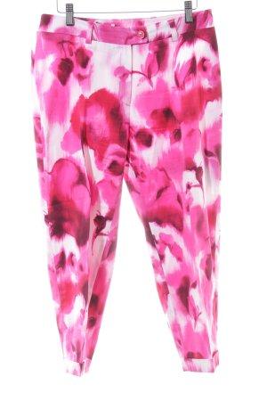 Tuzzi 7/8-broek roze-wit bloemenprint casual uitstraling