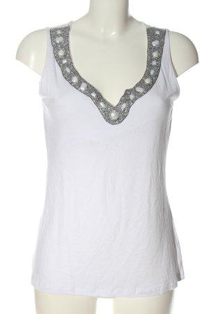 Tuzzi Blusa senza maniche bianco stile casual