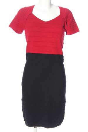 Tuzzi Bleistiftkleid rot-schwarz Casual-Look
