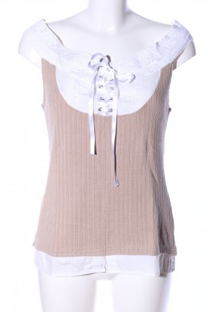 Tuzzi Blouse topje nude-wit casual uitstraling
