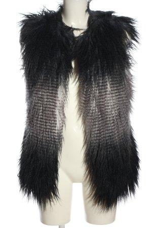 Tuzzi Fur vest black-white casual look
