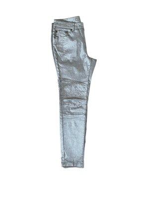 Tuzzi Jeans silber Stretch Gr 40, Neu