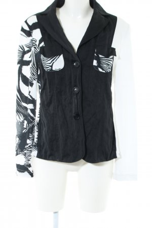 Tuzzi Kurz-Blazer schwarz-weiß abstraktes Muster Casual-Look