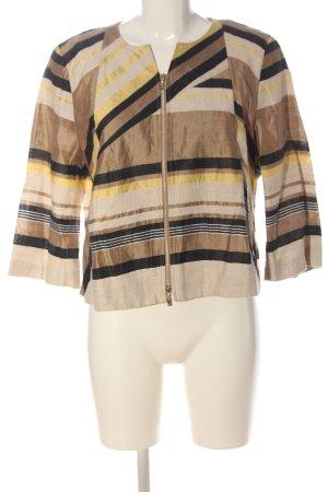 Tuzzi Korte blazer bruin-room gestreept patroon elegant