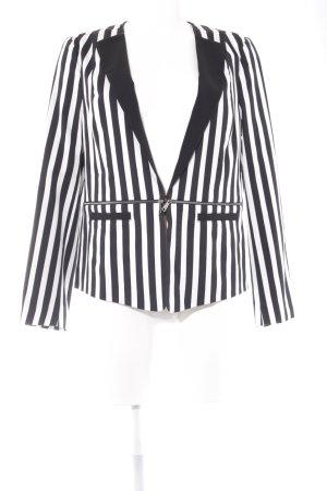 Tuzzi Kurz-Blazer schwarz-weiß Streifenmuster Casual-Look