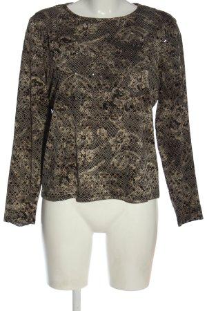 Tuzzi Manica lunga nero-bianco sporco motivo astratto stile casual