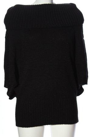 Tuzzi Oversized trui zwart casual uitstraling