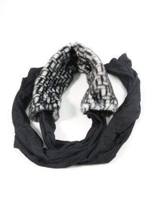 Tuzzi Scialle nero-bianco motivo astratto stile casual