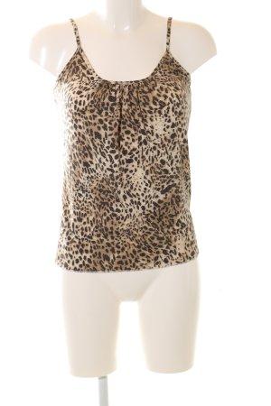 Tuzzi Top con bretelline crema-marrone Stampa leopardata stile casual