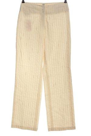 Tuzzi Pantalone jersey crema motivo a righe stile professionale