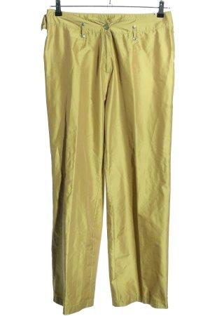 Tuzzi Stoffhose goldfarben extravaganter Stil