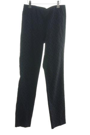 Tuzzi Stretchhose blau-schwarz grafisches Muster Casual-Look