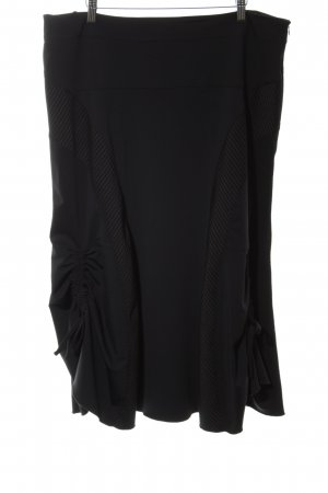 Tuzzi Falda stretch negro estampado repetido sobre toda la superficie