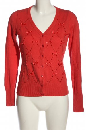 Tuzzi Strick Cardigan rot Zopfmuster Casual-Look