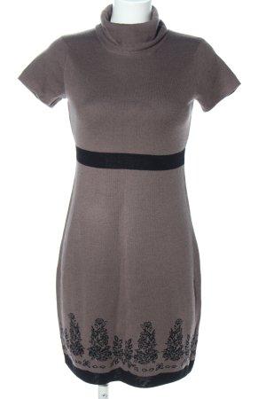 Tuzzi Strickkleid bronzefarben-schwarz Blumenmuster Casual-Look